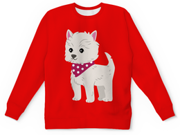 """Детский свитшот унисекс """"Собачка"""" - новый год, щенок, собака, 2018, год собаки"""