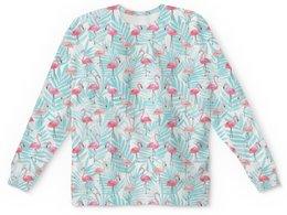 "Детский свитшот унисекс ""Фламинго"" - птицы, фламинго"