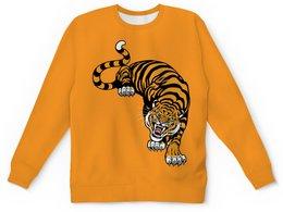 "Детский свитшот унисекс ""Свирепый тигр"" - тигр, животное"