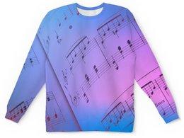 """Детский свитшот унисекс """"Мелодия"""" - музыка, ноты, мелодия, струны, звуковая волна"""