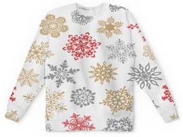"""Детский свитшот унисекс """"Зимние кружева"""" - дед мороз, санта, новый год, снег, праздник"""