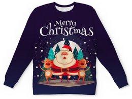 """Детский свитшот унисекс """"Новогодний"""" - зима, снег, снежинки, с новым годом, лесби"""