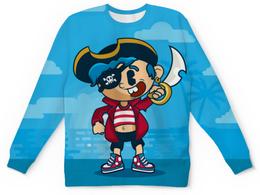 """Детский свитшот унисекс """"Модный пиратик"""" - фэнтези, юмор, черепа, пират"""
