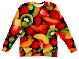"""Детский свитшот унисекс """"Фруктики"""" - фрукты, ягоды, лето, еда, клубника"""