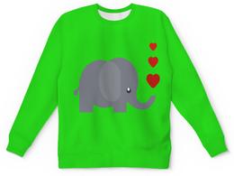 """Детский свитшот унисекс """"Милый слоник"""" - слон, сердечки, слоник, милый слоник"""