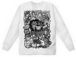 """Детский свитшот унисекс """"Иллюстрация"""" - баран, козел, звезда, ананас, люди"""