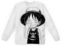 """Детский свитшот унисекс """"One Piece"""" - аниме, манга, ван пис, one piece, луффи соломенная шляпа"""