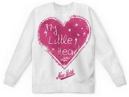 """Детский свитшот унисекс """"My Little Hear"""" - сердце, любовь, heart, new york, 14 февраля"""