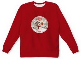 """Детский свитшот унисекс """"Christmas"""" - праздник, новый год, рождество, christmas, снеговик"""