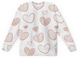 """Детский свитшот унисекс """"Хартс"""" - сердце, любовь, сердечко"""