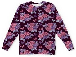 """Детский свитшот унисекс """"Букеты роз"""" - бабочки, цветы, роза, розы, букет"""