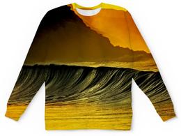 """Детский свитшот унисекс """"Волны моря"""" - море, краски, природа, пейзаж, волны"""