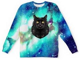 """Детский свитшот унисекс """"Кот в космосе"""" - кот, звезды, котенок, космос, коты в космосе"""