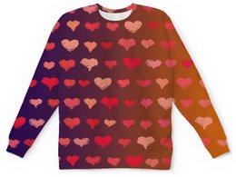 """Детский свитшот унисекс """"Сердечки """" - сердце, любовь, сердечки, день валентина, день влюбленных"""