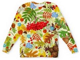"""Детский свитшот унисекс """"Осень"""" - листья, осень, природа"""
