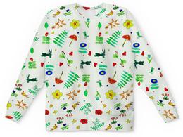 "Детский свитшот унисекс ""Детский Финская тема"" - цветочки, сердечки, звездочки, птички"