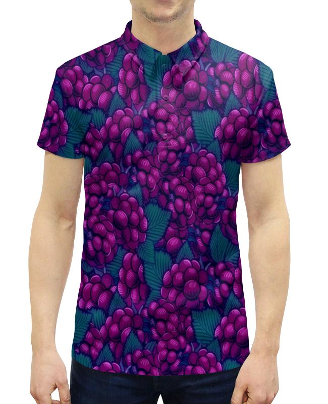 Рубашка Поло с полной запечаткой Printio Виноград