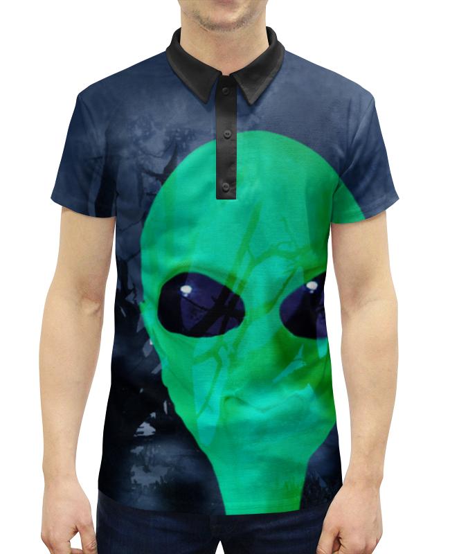 Рубашка Поло с полной запечаткой Printio Деревья. луна. инопланетянин ф а мишо деревья америки