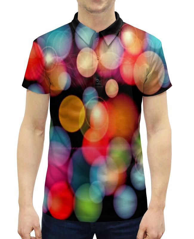 Рубашка Поло с полной запечаткой Printio Солнечные блики цена 2017