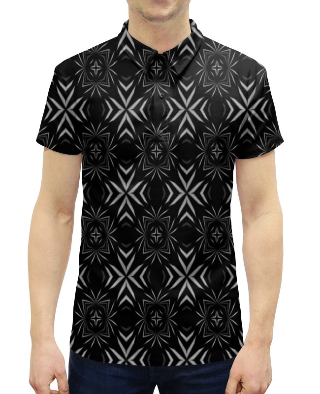 Рубашка Поло с полной запечаткой Printio Резной узор поло print bar узор