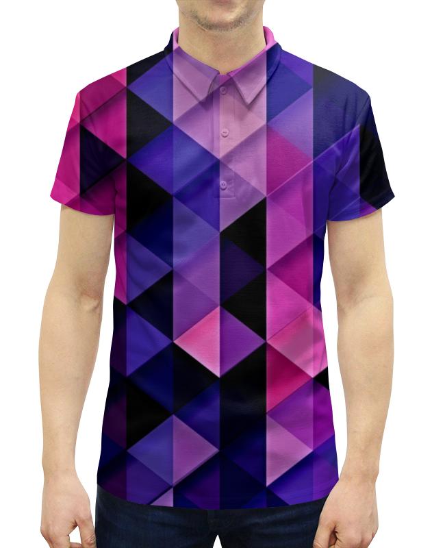 Рубашка Поло с полной запечаткой Printio Цветпарад