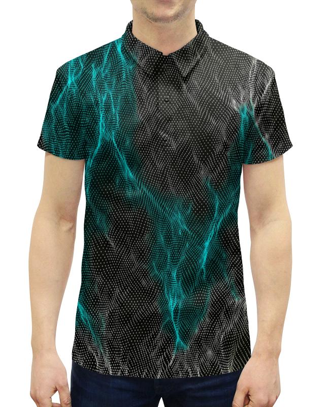 Рубашка Поло с полной запечаткой Printio Переливы рубашка поло printio фк нефтехимик