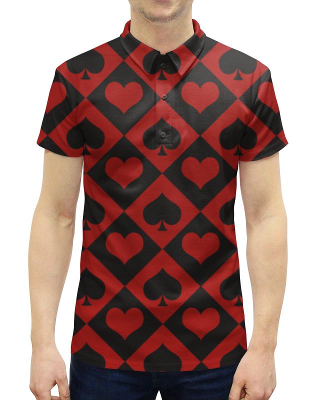 Рубашка Поло с полной запечаткой Printio Черви - пики