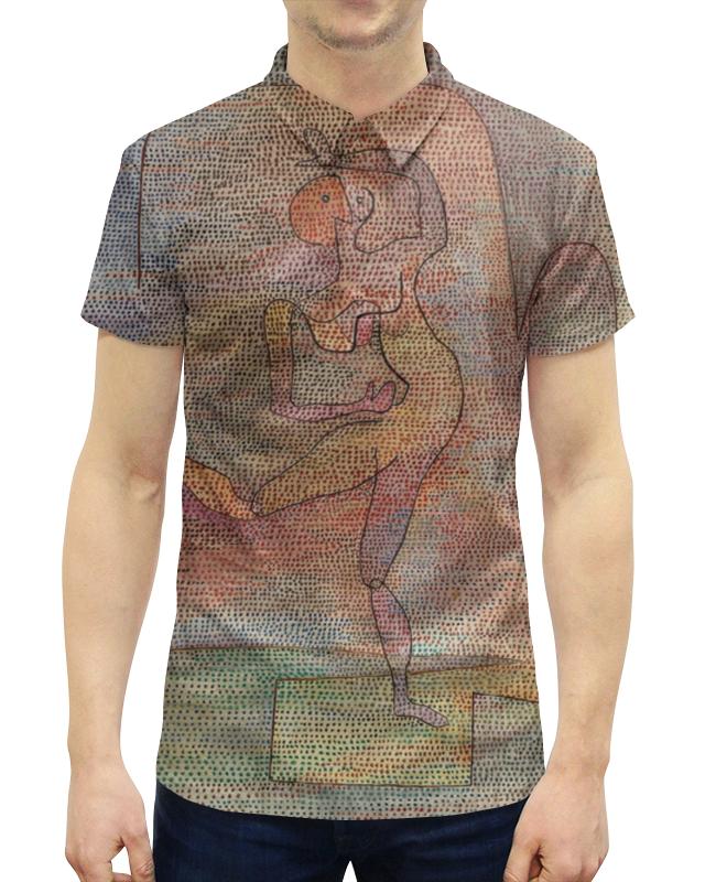 цена на Рубашка Поло с полной запечаткой Printio Танцовщица (пауль клее)