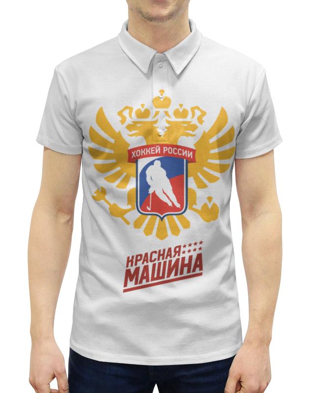 Рубашка Поло с полной запечаткой Printio Сборная россии  хоккею