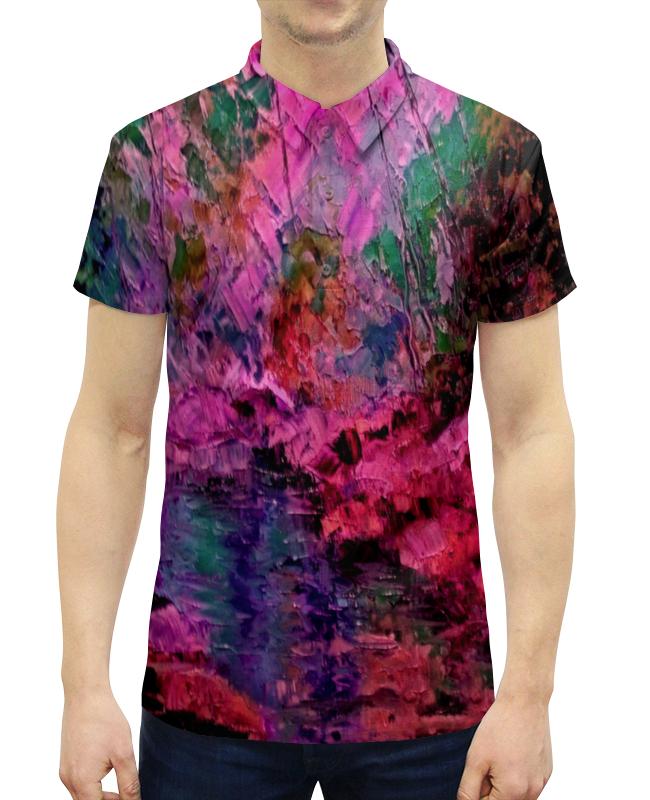 Рубашка Поло с полной запечаткой Printio Краски лета ольга заровнятных рецепт идеального лета