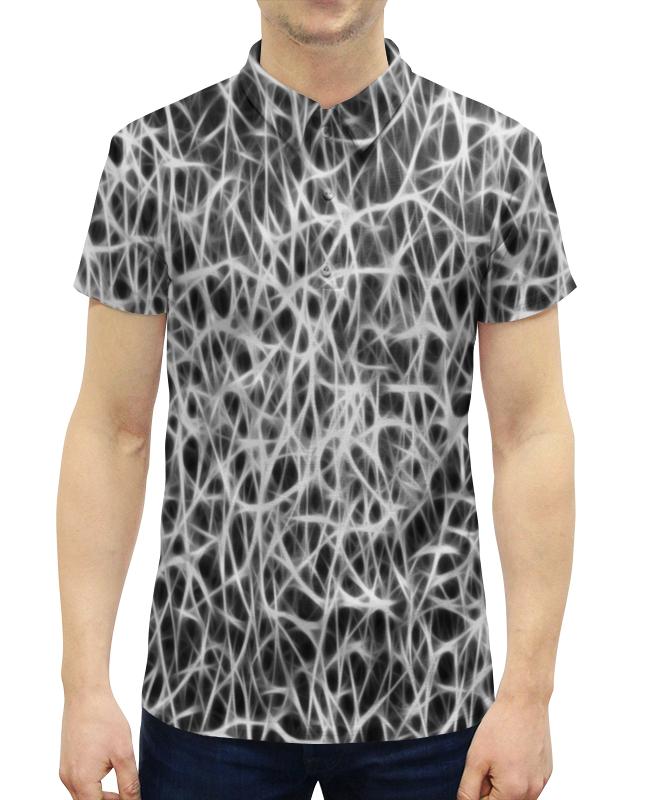 Рубашка Поло с полной запечаткой Printio Черно-белый узор рубашка поло printio биткоин черно белый