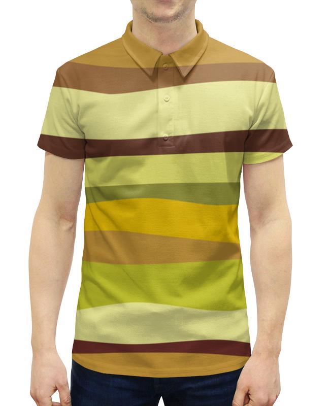Рубашка Поло с полной запечаткой Printio Зеленый песок рубашка elegance creation цвет зеленый