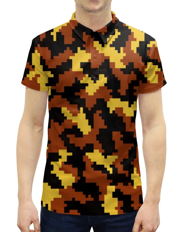 Рубашка Поло с полной запечаткой Printio Багряный камуфляж