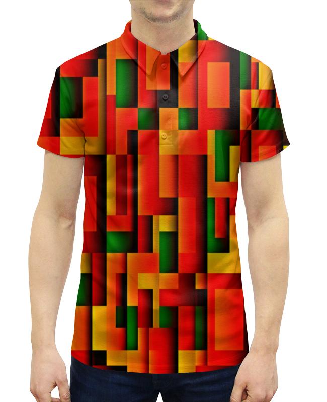 Рубашка Поло с полной запечаткой Printio Орнамент графический графический дизайн