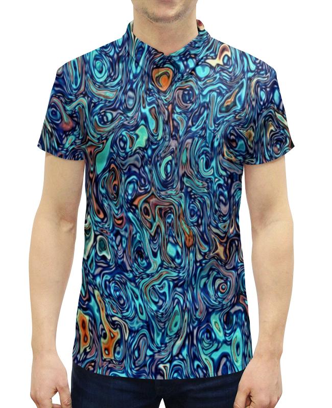 Рубашка Поло с полной запечаткой Printio Узор на воде поло print bar узор