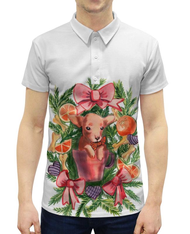 Рубашка Поло с полной запечаткой Printio Акварельная новогодняя забавная собака рубашка поло с полной запечаткой printio акварельная новогодняя забавная собака