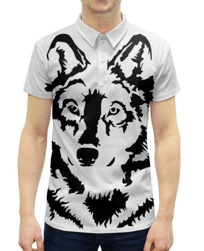Рубашка Поло с полной запечаткой Printio Тату волк слюнявчик printio тату волк