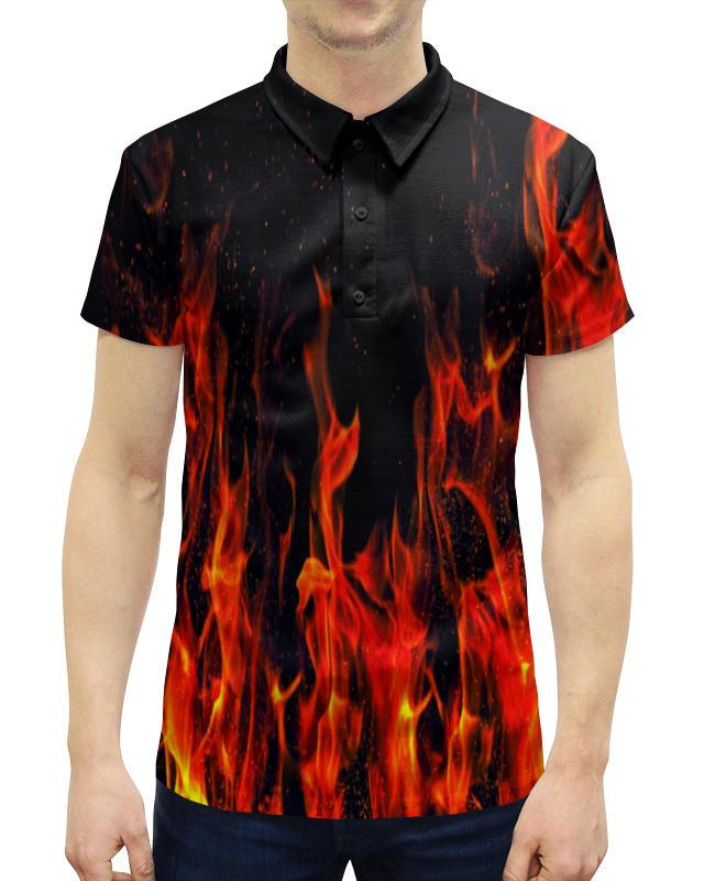 Рубашка Поло с полной запечаткой Printio Пламя рубашка поло с полной запечаткой printio лед и пламя