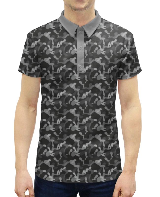 Рубашка Поло с полной запечаткой Printio Современный камуфляж