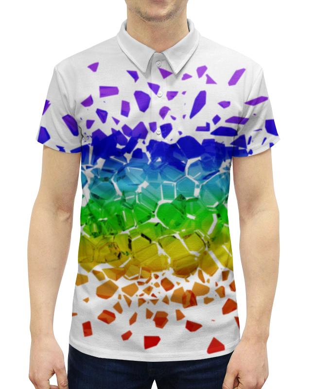 Рубашка Поло с полной запечаткой Printio Broken rainbow the lovely bones film tie in