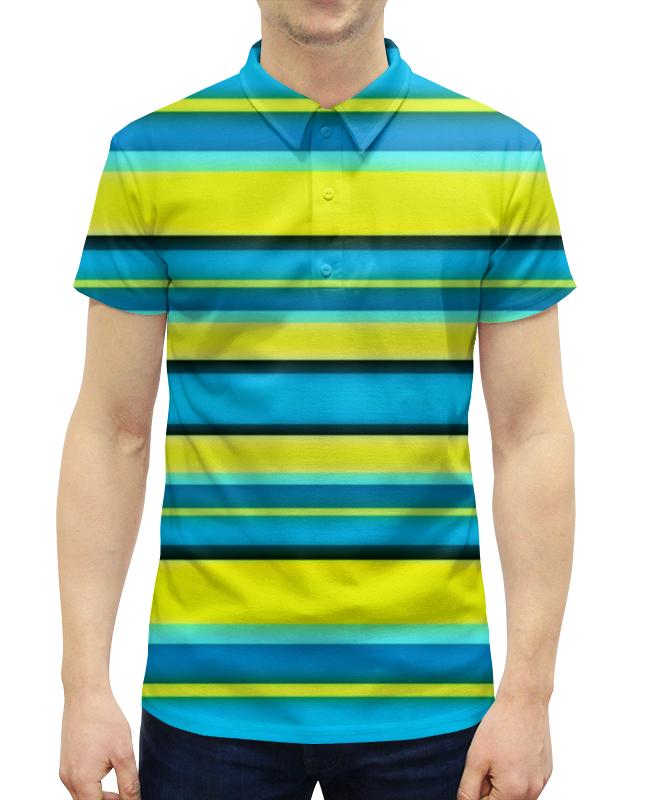 Рубашка Поло с полной запечаткой Printio Яркие линии рубашка поло с полной запечаткой printio оранжевые линии