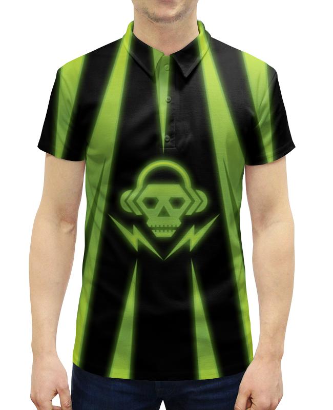 Рубашка Поло с полной запечаткой Printio Skull