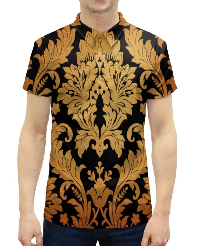 цена на Рубашка Поло с полной запечаткой Printio Желтые листья