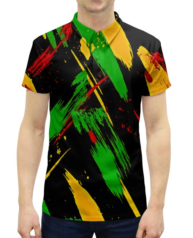 Рубашка Поло с полной запечаткой Printio Красочные пятна рубашка поло с полной запечаткой printio пятна краски