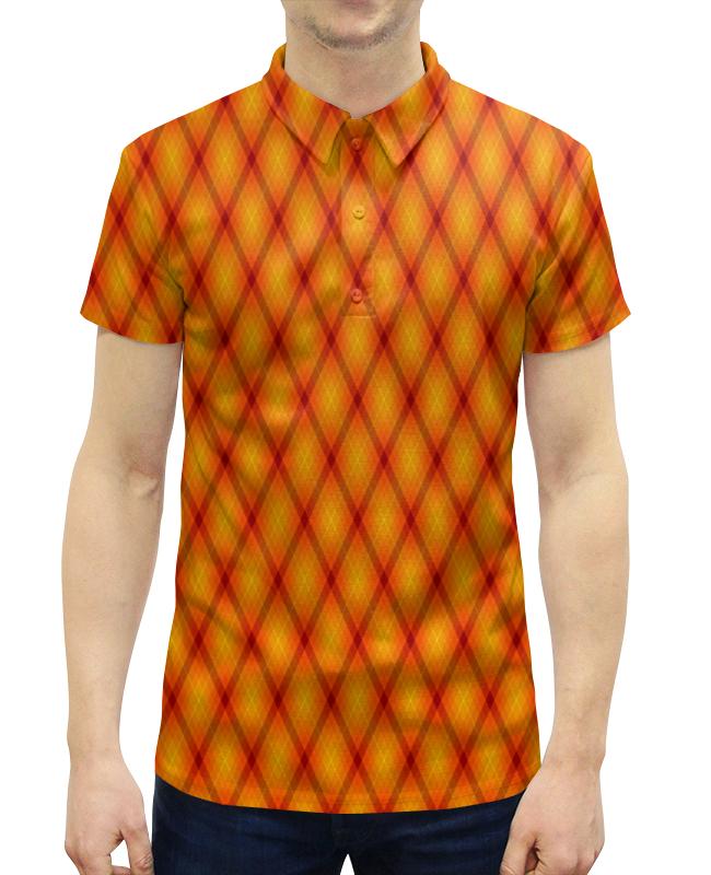 Рубашка Поло с полной запечаткой Printio Клетка оранжевая зверев с оранжевая рубашка смертника isbn 9785699931026