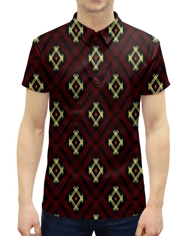 Рубашка Поло с полной запечаткой Printio Квадрат рубашка поло printio фк нефтехимик