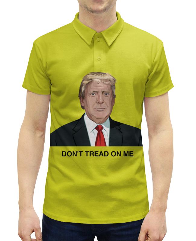 Рубашка Поло с полной запечаткой Printio Trump. dont tread on me. дональд трамп цена 2017