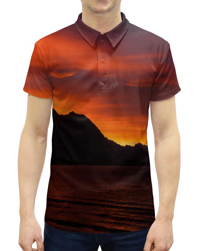 Рубашка Поло с полной запечаткой Printio Багряный закат свитшот унисекс с полной запечаткой printio багряный закат
