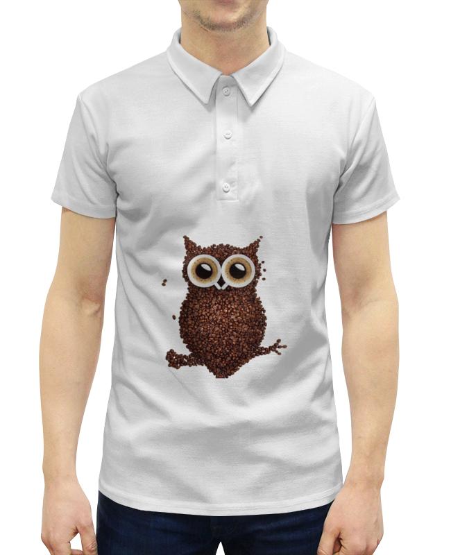 Рубашка Поло с полной запечаткой Printio Кофе-сова trefl набор пазлов винни пух 20 36 50 деталей trefl