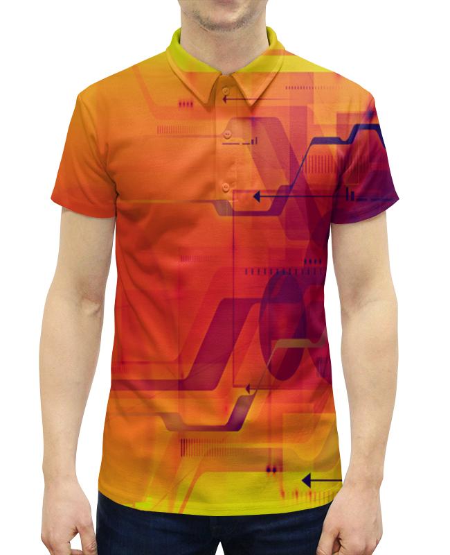Рубашка Поло с полной запечаткой Printio Узор абстрактный поло print bar узор